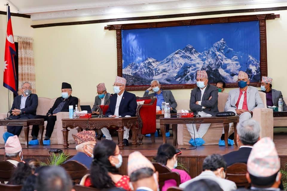 नेपाल पक्षको बैठकप्रति एमालेको आपत्ति: पार्टीको नामबाट बोलाइएको बैठक अनधिकृत